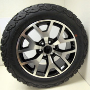 "New Set of Four Chevy Black And Machine Honeycomb 20"" Wheels With 275/60/20 BFG KO2 A/T Tires"