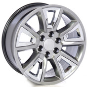 "20"" Hyper Silver with Chrome Insert GMC Wheels with Lug Nuts"