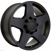 "New Set of 4 2011-2018 GMC Sierra 2500  8X180  8 Lug Black Matte 20"" Wheels Rims"