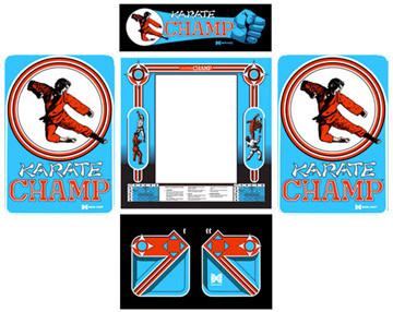 Karate Champ 5 piece graphic restore kit