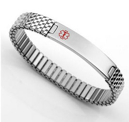 Stainless Steel Stretch Medical ID Bracelet
