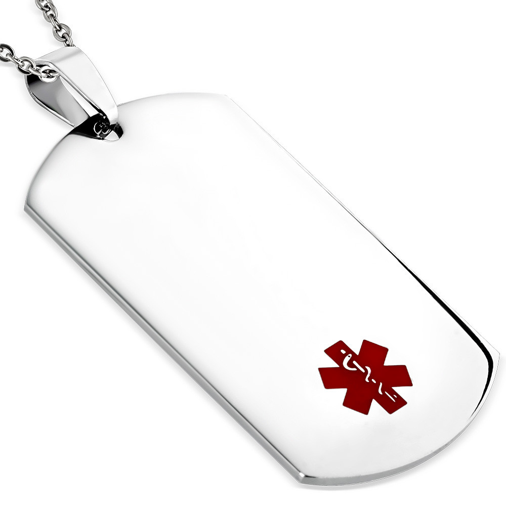 Medical id tag pendant medical id pendant mozeypictures Image collections