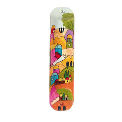Multicolor Small Painted Wooden Mezuzah Case By Yair Emanuel