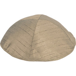 Gold Poly Silk Kippah By Yair Emanuel