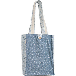 Blue & White Pomegranates Printed Tote Bag By Yair Emanuel