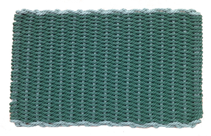Border evergreen with fern cape cod doormats for Cape cod door mat