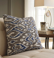 Kenley Blue/Brown Pillow (4/CS)