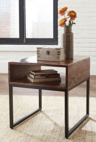 Hirvanton Warm Brown Rectangular End Table