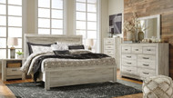 Bellaby Whitewash 8 Pc. King Panel Bed Collection