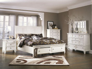 Prentice White 5 Pc.Queen Sleigh Storage Bedroom Collection