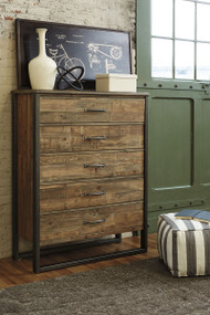 Sommerford Brown Five Drawer Chest