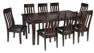 Haddigan Dark Brown 9 Pc. Rectangular Extension Dining Set
