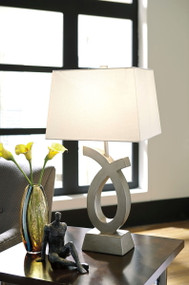 Amayeta Silver Finish Poly Table Lamp (2/CN)