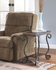 Rafferty Chair Side End Table: Dark Brown