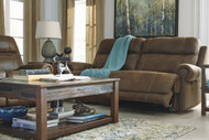 Austere 2 Seat Reclining Sofa: Brown