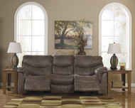 Alzena Reclining Sofa: Gunsmoke