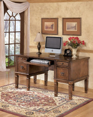 Hamlyn Medium Brown Home Office Storage Leg Desk