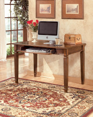 Hamlyn Home Office Small Leg Desk: Medium Brown