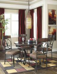 Glambrey Round Dining Room Table: Brown