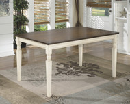 Whitesburg Rectangular Dining Room Table: Brown/Cottage White