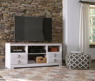 Willowton Whitewash LG TV Stand w/Fireplace Option