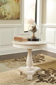 Mirimyn White Round Accent Table