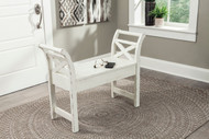 Heron Ridge White Accent Bench
