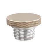 Custom Gas Cap - Brass Flat Top - Aluminum Thread - Vented