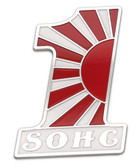 Billet Gas Tank/Side Panel SOHC Emblem