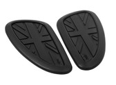 Gas Tank Knee Pads - Union Jack - Black