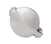 "Monza Aluminum Gas Cap - Flip Up - Polish - 2"" Diameter"