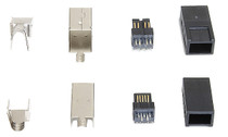 1394b FireWire 9 Pin Connector Plug-kit (Shell)