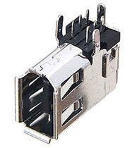 1394 FireWire 6 pin Side Right Angle Connector Receptacle