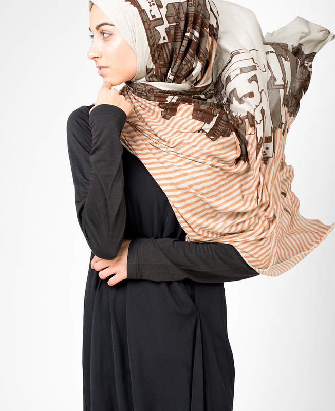 Urban Windchime Grey Hijab