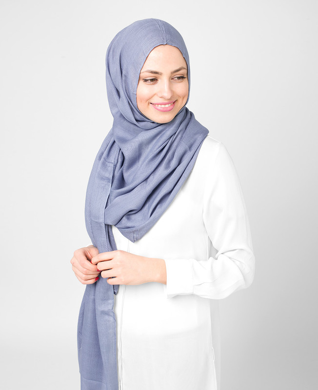 Pinless Tempest Purple Viscose Hijab