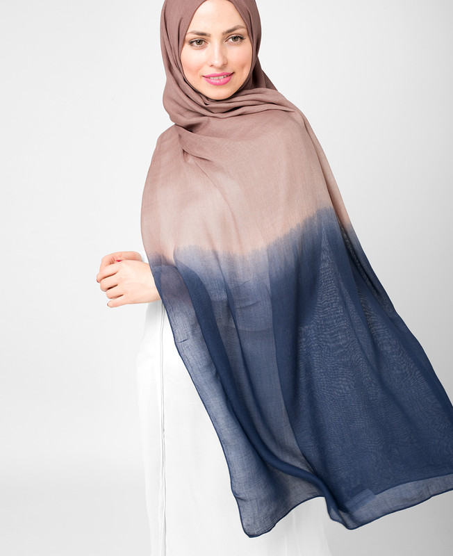 Blue Heaven and Deep Cobalt Ombre Viscose Hijab