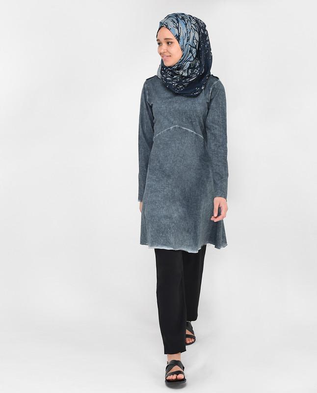 Grey Textured Top
