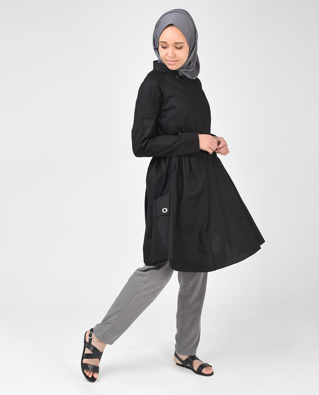 Black Skater Style Tunic