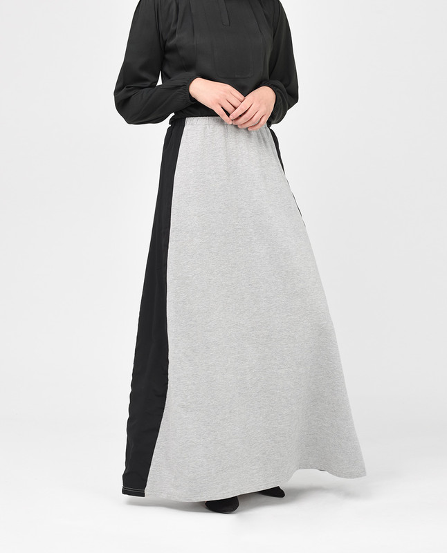 Light Grey and Black Skirt