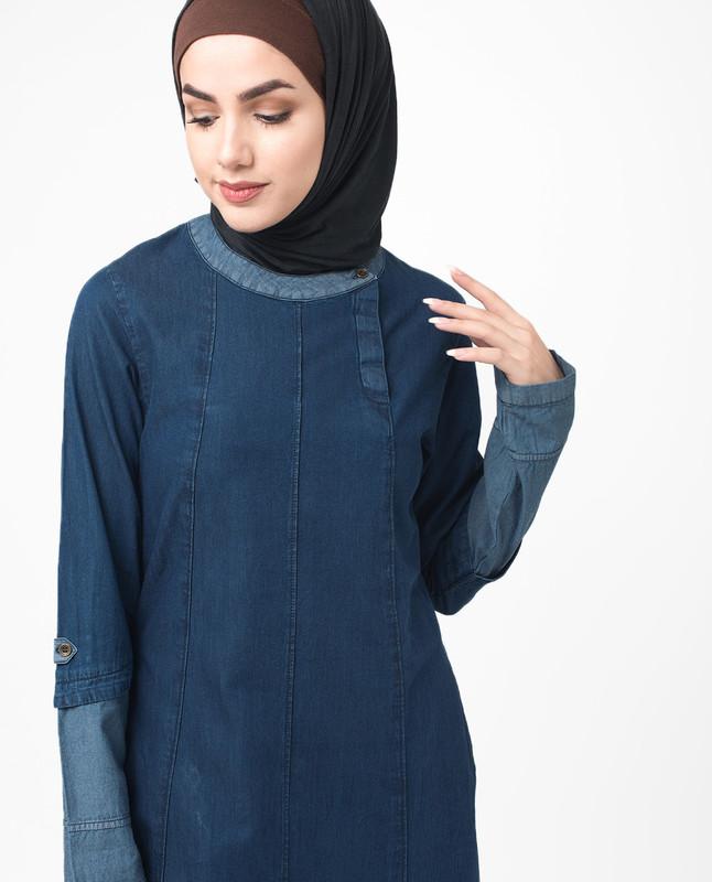 Soft Fine Denim Urban Jilbab