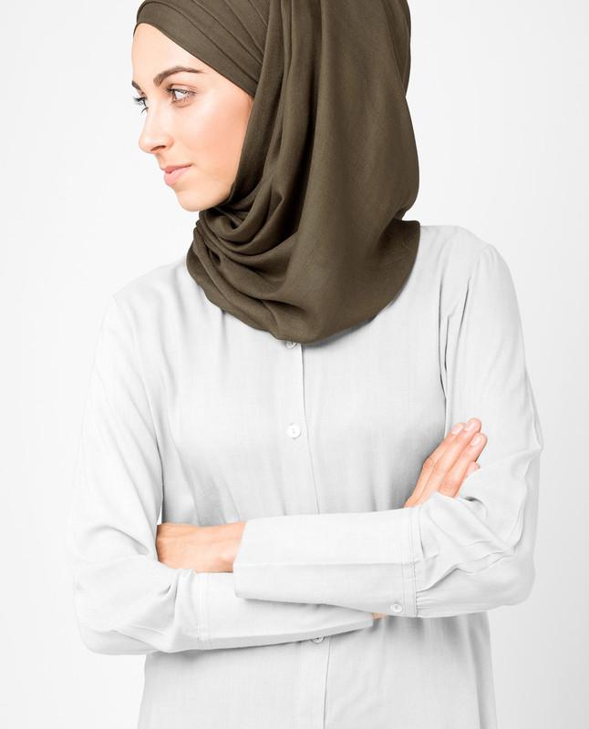 Fossil Brown Viscose Hijab