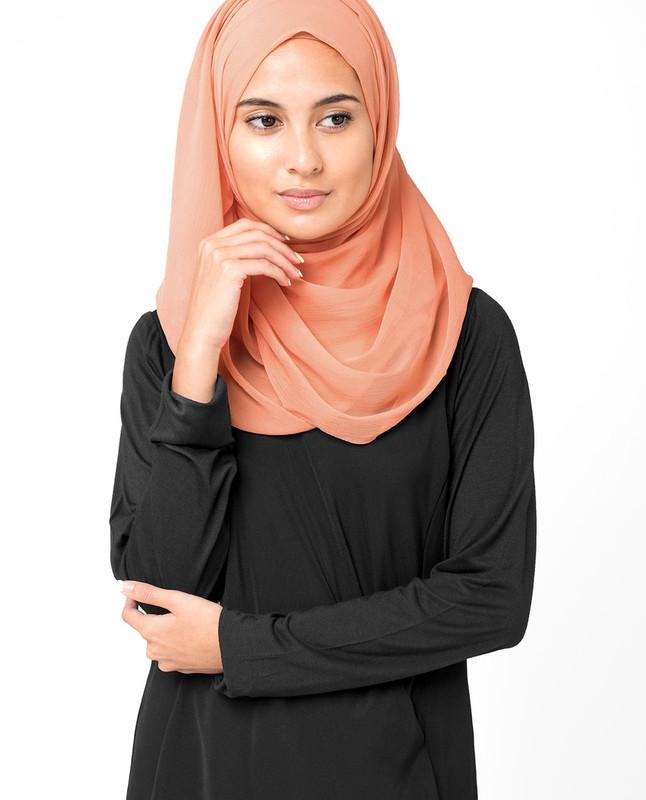 Carnelian Orange PolyChiffon Hijab
