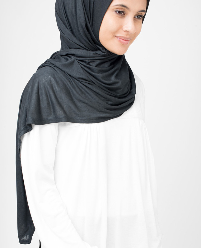 Ombre Blue Viscose Jersey Hijab