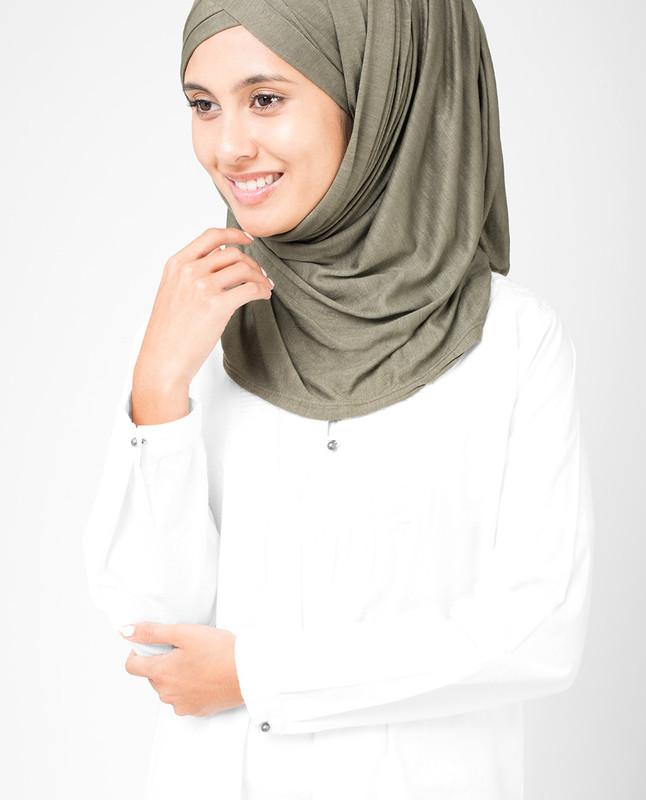 Olive Night Viscose Jersey Hijab