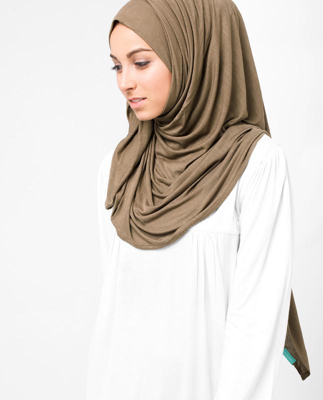 Pine Bark Beige Viscose Jersey Hijab