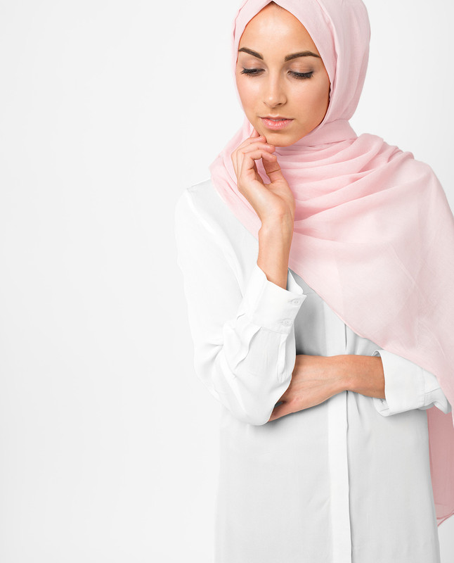 Blossom Pink Voile Hijab