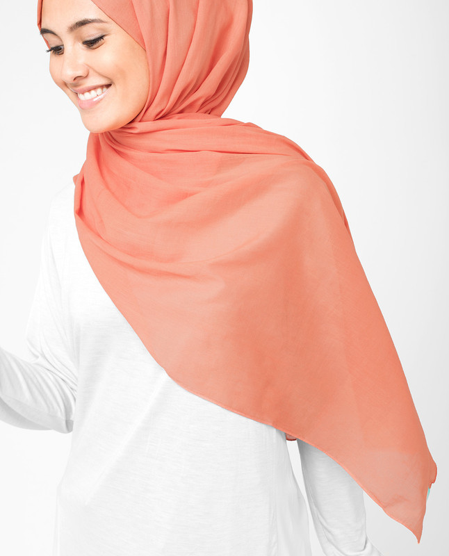 Arabesque Orange Voile Scarf