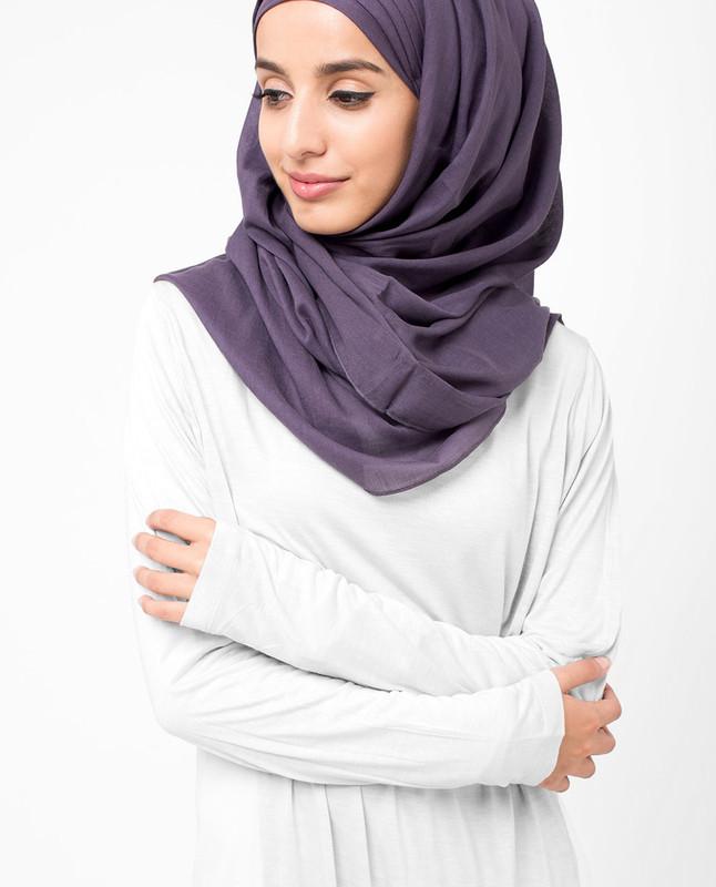 Indigo Purple Voile Hijab