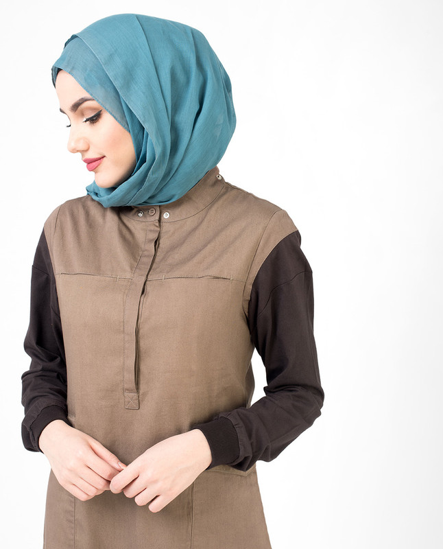 Utility Brown hooded Jilbab