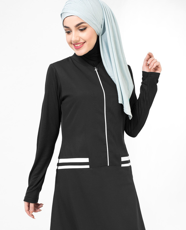 Sportstar Black Flared Jilbab